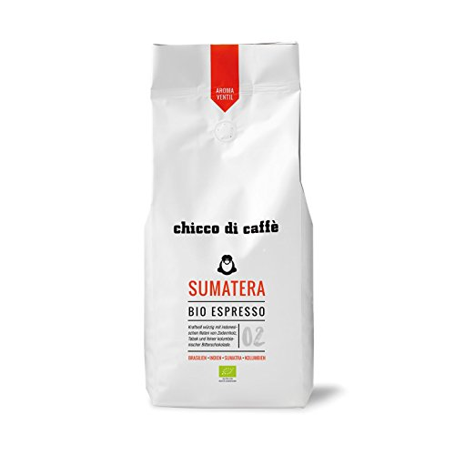 chicco di caffè | Bio-Espresso Sumatera | geröstete, ganze Kaffeebohnen | 80% Arabica - 20%...