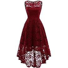 1191409f9325 MuaDress Robe Femme soirée Cocktail Bal High Low Jupe Asymétrique ...