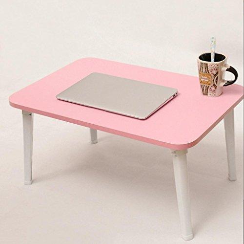 Gfl Home Esstisch/Couchtisch/Laptop Tisch/Rechteckigen Tisch/L60cm * W40cm * H29cm (weiß, schwarz, rosa drei Farben erhältlich) Computerstand (Farbe : - Pink Kaffee-tisch-bücher