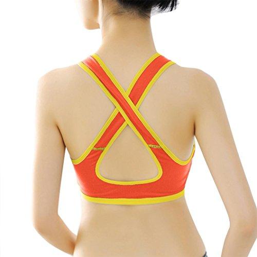 Femmes Lingerie,Tonwalk Veste de Yoga Sports Orange