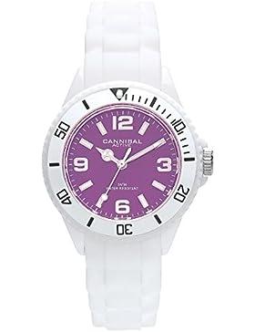 Cannibal Unisex-Armbanduhr Analog Silikon weiß CK215-01B