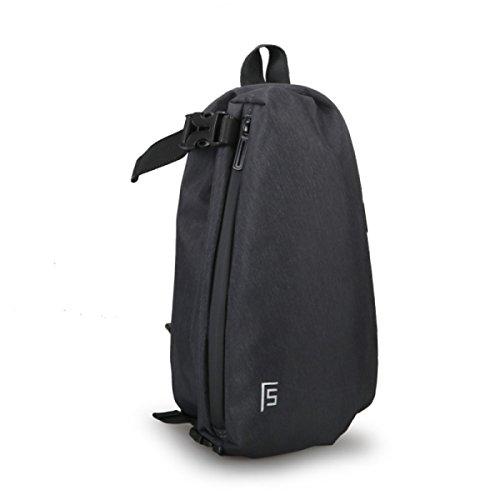 Brusttasche Männlichen Schultertasche Freizeit Sport Männer Tasche Messenger Bag Mode Jugend Kleinen Studenten Rucksack Black