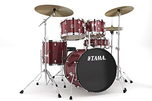 Tama rm50yh6°c-wr komplett Rhythm Mate Set Schlagzeug mit Hardware und Becken (5FUTS 20/10/12/14), Wein Rot Cwr-elektronik