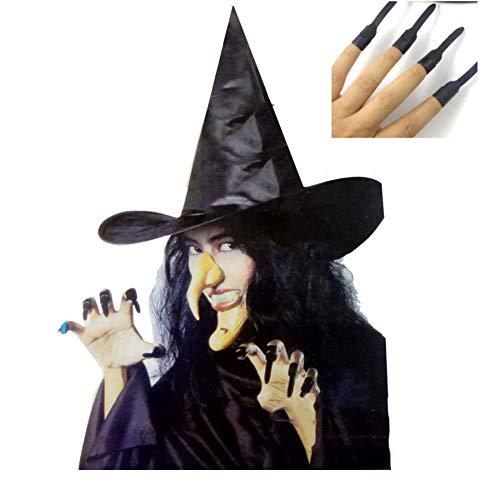 SPFAZJ Halloween Kostüm Hexe fünf Stück einrichten Halloween Maskerade Requisiten Cosplay Requisiten gesetzt Hexenkleid (Adult Kostüm 5 Stück)