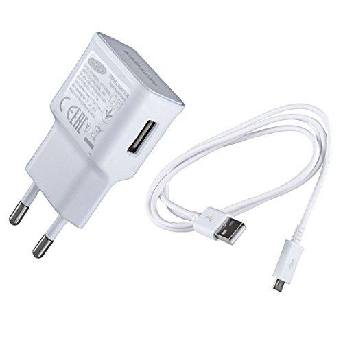 Original Samsung Modulares Micro USB Handy Ladegerät EPTA10 – Ausgangsleistung 2 Ampere - Ladeadapter und USB Ladekabel / Datenkabel in der Farbe Weiß - für kompatible Samsung Mobiltelefone – (Bulk verpackung) (Galaxy Ace 2 S6810)