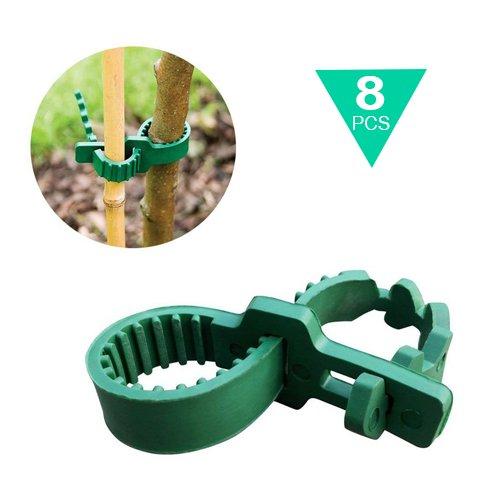 Pflanzenbinder Verstellbar 8 Stück, Kunststoff Kabelbinder Pflanzen Draht Pflanzenklammern (8 Kabelbinder Heavy Duty)