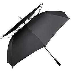 Paraguas de golf G4Free de 175 cm, con doble toldo y ventilación. , negro