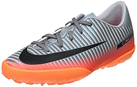 Nike - Junior Mercurialx Victory VI CR7 TF - 852487001 - Farbe: Grau-Orangefarbig - Größe: 35.0