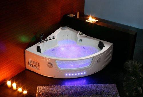 Luxus Whirlpool Badewanne 172×172 in Vollausstattung (Massage) – Sonderaktion