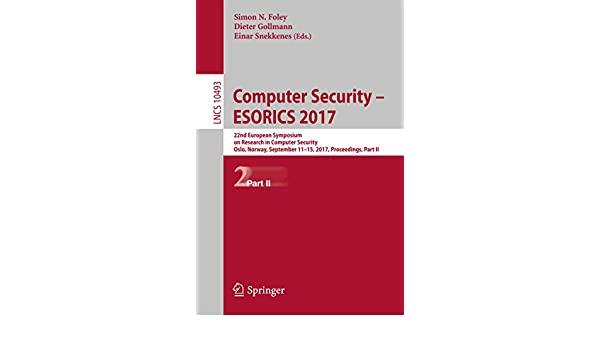 Computer security: computer security dieter gollmann pdf.
