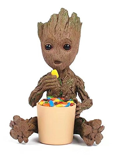 MATECam Marvel Hüterin der Galaxy Pack - Groot Action Figur - Kletterer - Harz Spielzeug (Süßigkeiten Essen) Internationaler Austausch