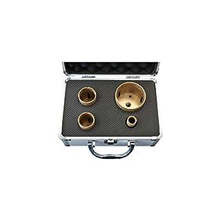 ADT Fliesenbohrer Set M14 4-teilig im Koffer / Ø 20, 35, 40, 68mm für Granit, Fliesen und Feinsteinzeug