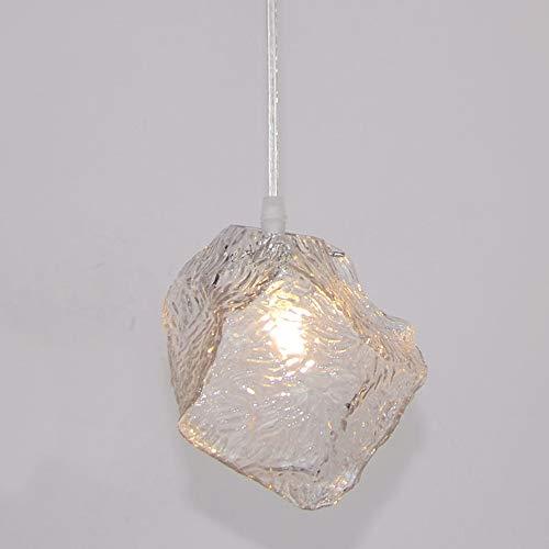 Kronleuchter Moderne Minimalistische Dekorative Glas Kronleuchter Designer Persönlichkeit Kreative Bekleidungsgeschäft Cafe Restaurant Eiswürfel Kronleuchter Warmes Licht -