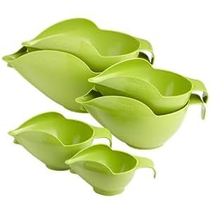 Ensemble de Bols POURfect de 1-2-4-6-8-12 tasses en vert pomme