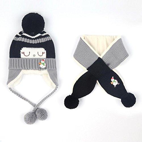 43f665594 VENMO Bebé Niños Niñas Invierno Gorro Caliente Sombreros de Bolas de ...