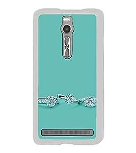 Diamond Ring 2D Hard Polycarbonate Designer Back Case Cover for Asus Zenfone 2 ZE551ML