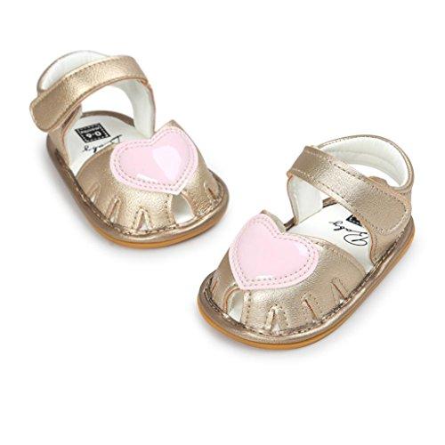 Pour 0-18 mois Bébé,Transer ® Mode bébé Fille sandales anti-dérapant doux unique Toddler Sneaker Or
