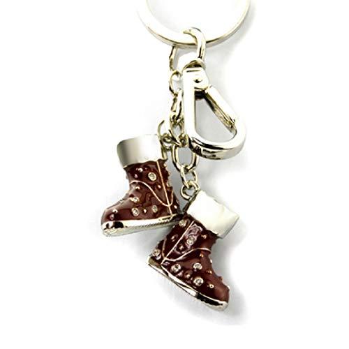 HZH Zink-Legierungs-Schlüsselring-Kreatives schwarzes Inlay-Zirconium-Bohrgerät-Schnee-Aufladungs-Liebhaber Keychain Auto-Schlüssel-Wölbungs-Taschen-Anhänger (Holz-inlay-tools)