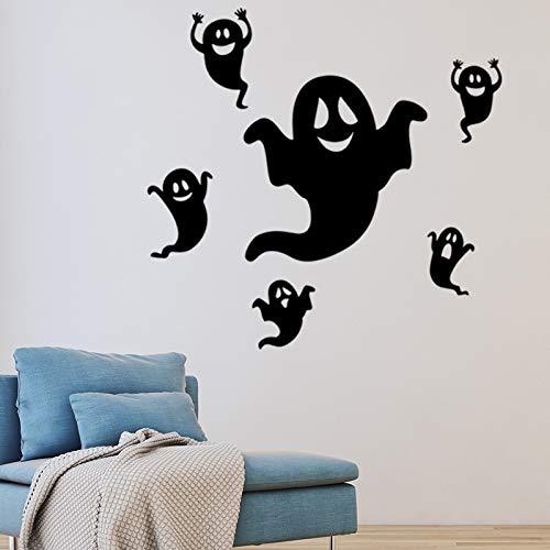 Wandaufkleber ZOZOSO Halloween-Reihe Lustige Kleine Geist-Glasfenster-Wohnzimmer-Dekorative Wandaufkleber