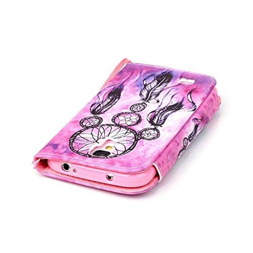 CareyNoce Apple 5C Coque,Flip Housse Etui Cuir PU Coque pour Apple iPhone 5C (4.0 pouces) -- licorne Campanula Retro