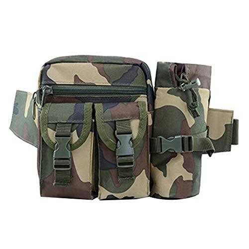 Man9Han1Qxi Männer Multifunktions Outdoor Camouflage Handytasche Tasche Taille Gürteltasche Gürteltasche Schultertasche Brustbeutel Jungle Camo Taille Camo