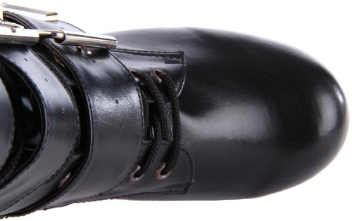 Demonia Torment-703 Stivale Donna Manica Corta Nero (blk Vegan Leather)