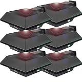 Uniquefire Schwarz Solarlampe 6 LEDs Dachrinnen Außenlampe Leuchte Wandlampe Solar für Garten, Terrasse, Fahrtweg, Höfe, Traufen (6 STK.)