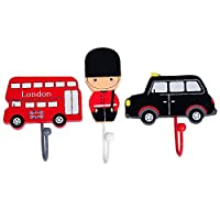 Handcrafted Wooden London Bus Taxi Guard Coat Hooks Pegs by Tinkie Toys