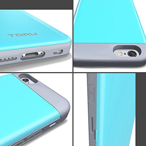 iPhone 6S Hülle, TORU [CX PRO Case] [Portemonnaie] Handyhülle für iPhone 6S Brieftasche Hülle - [Kartenfach][Ständer][Schutzhülle] Handyhülle mit verstecktes Spiegel - Gunmetal Rose Gold