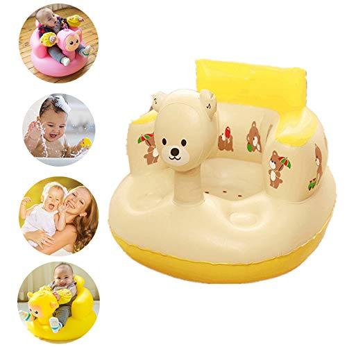Soulitem Enfants bébé Gonflable Chaise Canapé Siège de Bain Salle à Manger Poussette PVC Infantile Tabouret Portable de Jeu Tapis de Jeu