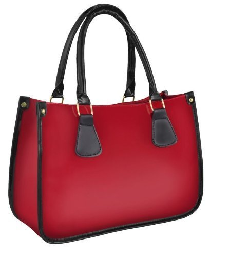 Anna Double Handled Patent Ladies Tote Grab Bag