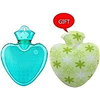 KOMEISHO Herz-Form-PVC-heiße kalte Wasser-Flaschen-Tasche mit Abdeckung Winter-hintere Hals-Handwärmer-Tasche... preisvergleich bei billige-tabletten.eu