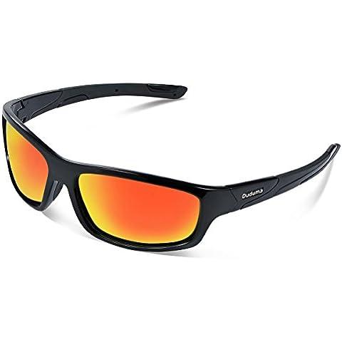 Duduma Gafas de Sol Deportivas Polarizadas Perfectas Para Esquiar Golf Correr Ciclismo con el Marco Irrompible Du645 Para Hombre y Para