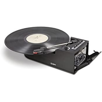 ion audio duo deck platine tourne disque ultra portable. Black Bedroom Furniture Sets. Home Design Ideas