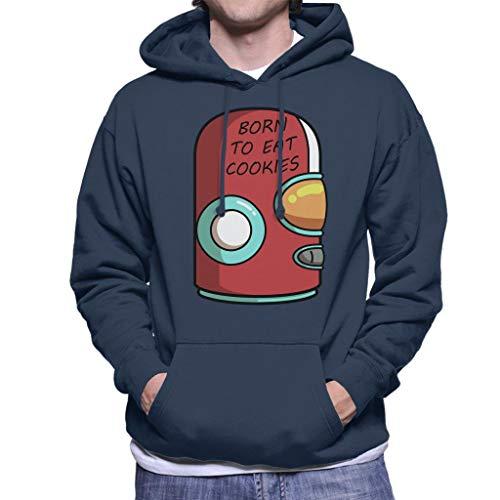 (Cloud City 7 Final Space Gary Born to Eat Cookies Men's Hooded Sweatshirt)