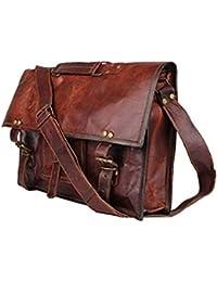 Mk Bags Vintage Bags Genuine Leather Messenger Bag Cum Office Bag 78