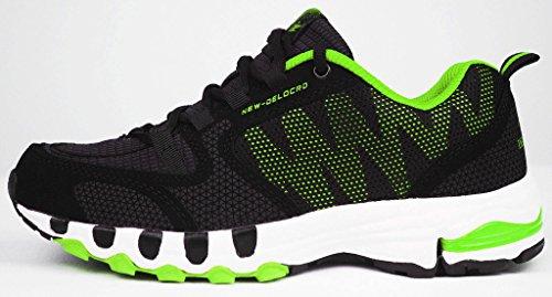 Delocrd - Scarpe da corsa, da donna Black+Green