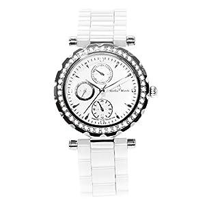 Stella Maris STM15R3 - Reloj de cuarzo con correa de cerámica para mujer, color blanco de Stella Maris