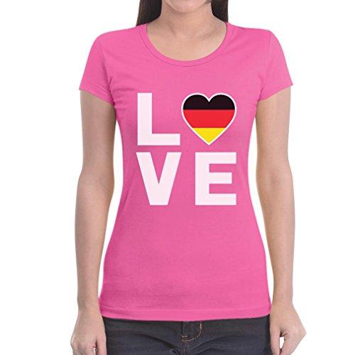 Love Germany Ich Liebe Deutschland schönes Motiv Frauen T-Shirt Rosa