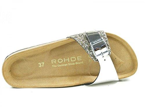 Rohde Alba, Ciabatte Donna Argento (argento)