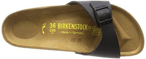 Birkenstock Classic Madrid Birko-Flor Damen Pantoletten Schwarz (Schwarz)