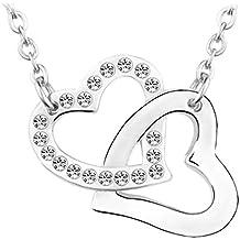 Le Premium® 'Our Love' made Collana con pendente a forma di cristalli Con rotonda Da (Madri Cuore Collana)