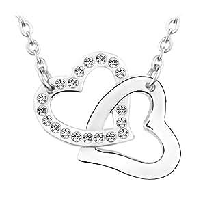 Le Premium® 'Our Love' made Collana con pendente a forma di cristalli Con rotonda Da Swarovski-cristallino