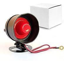Taikuwu 105dB 12 V Mini con cable Standalone fuerte cuerno sirena cuerno altavoz alarma de seguridad