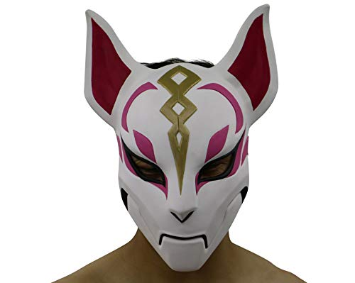 hcoser Fortnit Game Fox Maske Cosplay Kostüm Requisite Latex Helm für Erwachsene Party Kostüm (fortnite Kostüme)
