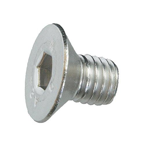 5 Senkkopfschrauben Edelstahl M8 x 12 mm – ISO 10642 / DIN 7991 – Senkschrauben mit Innensechskant und Vollgewinde – Werkstoff A2 (VA / V2A)