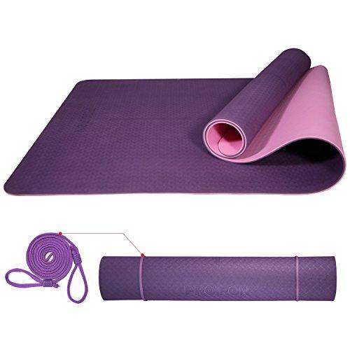 Proiron tappetino da yoga antiscivolo per fitness pilates tappetini yoga professionale 6 mm antiscivolo e grande