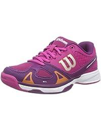 Wilson RUSH PRO JR, Chaussures de Tennis mixte enfant