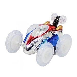 NM DASHNM NMITDASH NMIT Turbo 360 Twister Control Remoto RC Dasher Vehículo Acrobático Juguete de los niños Coche Luces Intermitentes eléctricas al Azar (Azul o Verde)