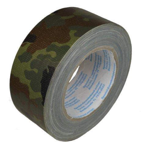 Bundeswehr Flecktarnband 5-Farben Flecktarn 50mm x 25m